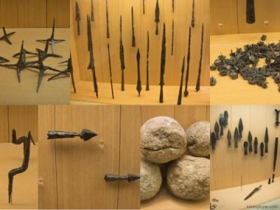 Alésia armes romaines retrouvées à Alise Sante Reine