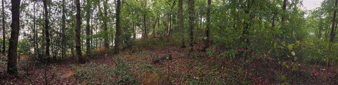 12 Le mur de la forteresse de Noviodunum Neung sur Beuvron précédent la bataille d'Alésia