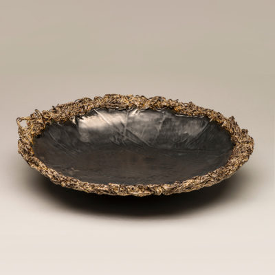 Image: Charcoal Porcelain Bowl - Lois Sattler