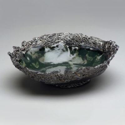Image: Emerald Blue Bowl - Lois Sattler