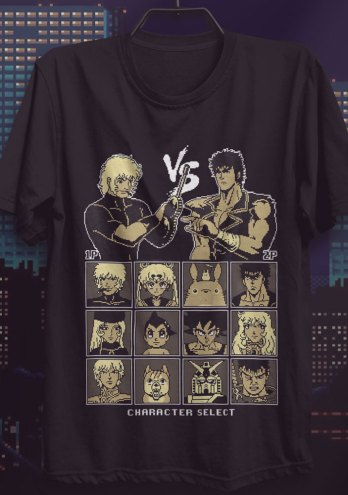 Camiseta Animes Clássicos 8 Bit