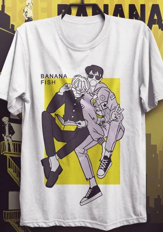 Camiseta Banana Fish – School