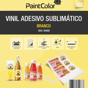 Vinil Adesivo Sublimático Branco A4 100 Folhas