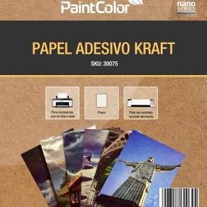 Papel Adesivo Kraft para Jato de Tinta 135g A4 100 Folhas