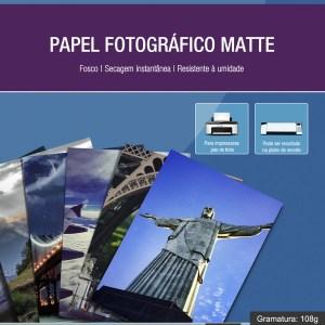 Papel Fotográfico Matte A4 108g 500 Folhas