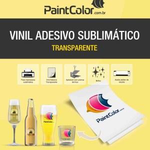 Vinil Adesivo Sublimático Transparente A4 10 Folhas