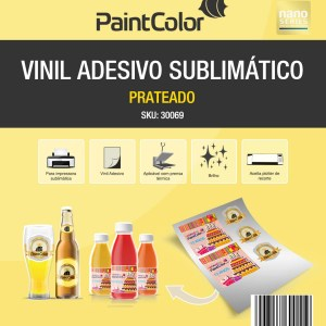 Vinil Adesivo Sublimático Prateado A4 10 Folhas