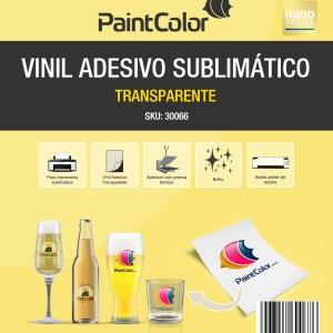 Vinil Adesivo Sublimático Transparente A4 100 Folhas