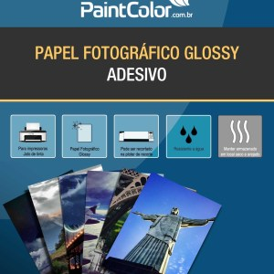 Papel Fotográfico Adesivo Glossy Para Jato de Tinta 135g A4 20 Folhas