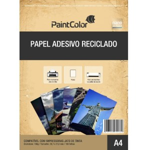 Papel Adesivo Reciclado Fotográfico 180g A4 - 100 Folhas