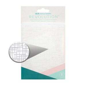 Placa de Emboss Traços e Colméias We R Revolution - Kit com 2 Peças