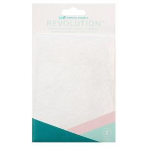 Placa de Emboss Floral We R Revolution - Kit com 2 Peças