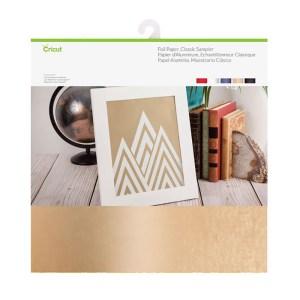Papel Foil 5 Cores Clássico - Cricut 30x30 cm - 10 Folhas