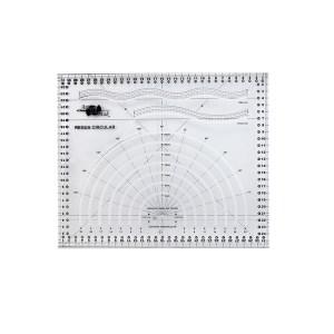 Régua Circular de Acrílico para Patchwork 15x15cm Artmak