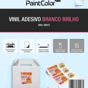 Vinil Adesivo para Jato de Tinta Branco Glossy A4 10 Folhas