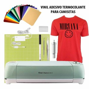 Plotter Recorte Cricut Explorer Air 2   Kit Vinil Termocolante Camisetas