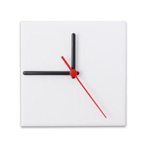 Relógio Fosco para Sublimação Quadrado Branco 15x15 - 1 Un.
