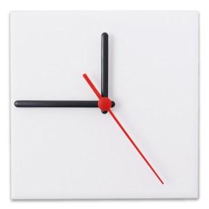 Relógio Fosco para Sublimação Quadrado Branco 20x20 - 10 Un.