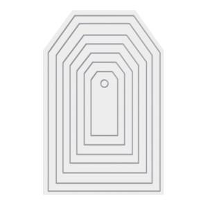 Faca de Corte Tag We R Revolution - Kit com 7 Peças