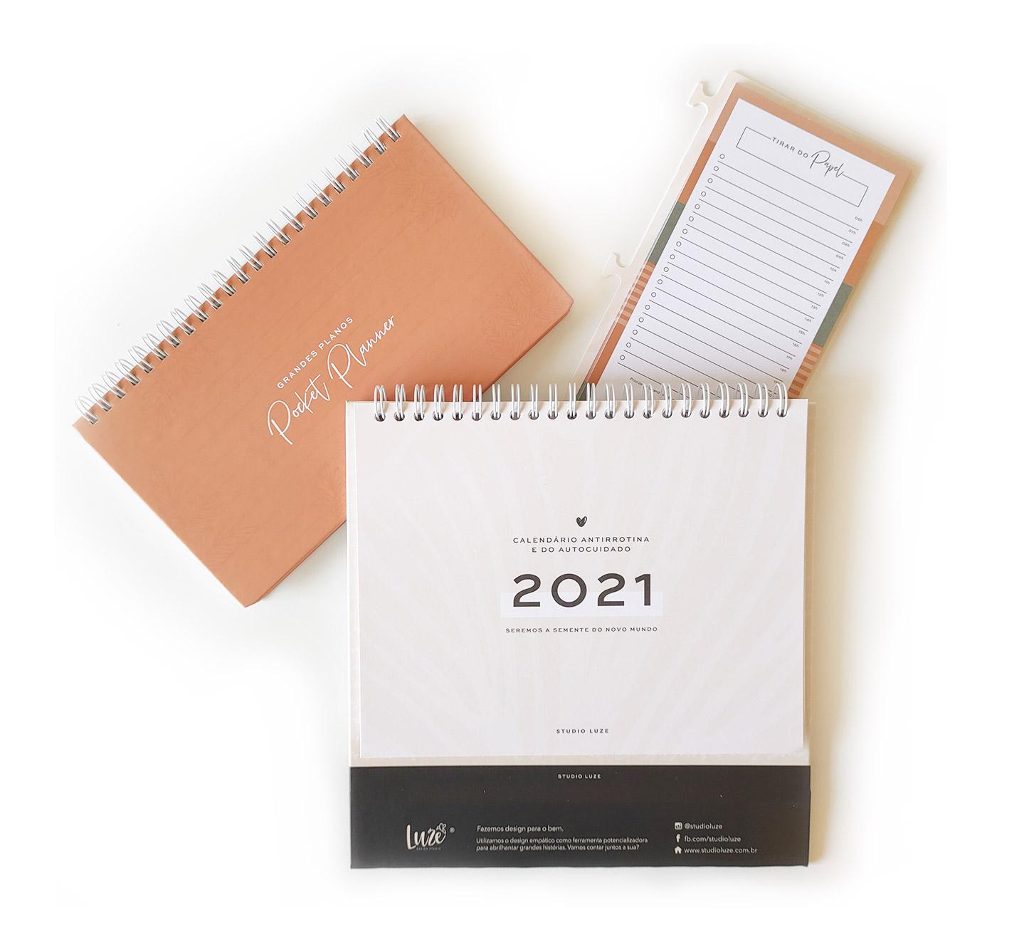 Pllanner Pocket Calendário Antirrotina e Autocuidado | Studio Luze