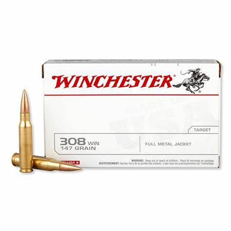 Mun. Winchester 308 Win 147 Gr FMJ_lojaamster