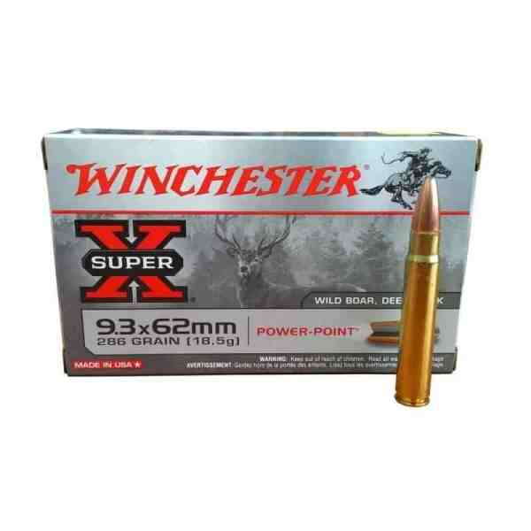Mun. Winchester 9,3.x62 286 gr Power Point_lojaamster