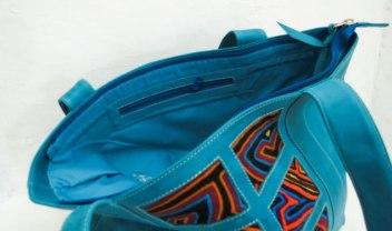 Bolsa de couro e mola (30 x 40 cm)