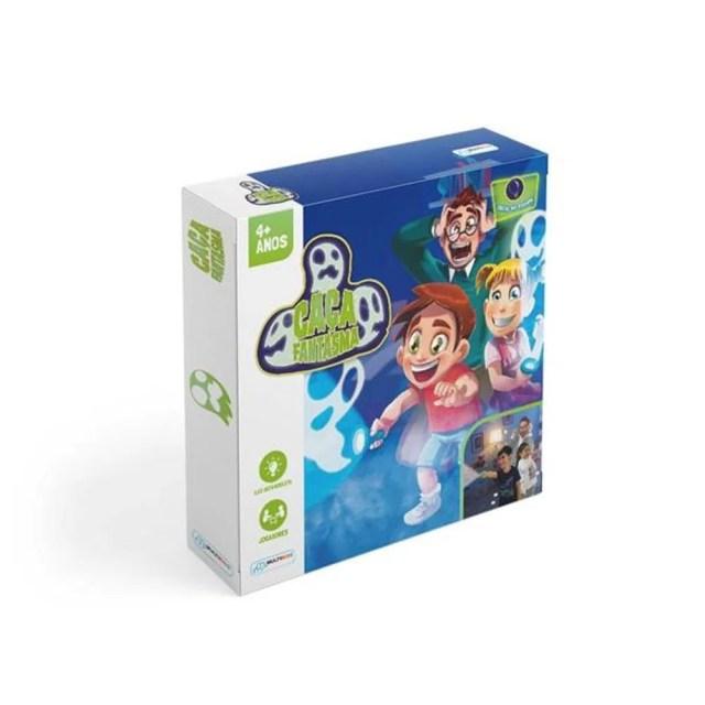 Jogo Caça Fantasmas para 2 Jogadores com 2 Lanternas Indicado para +4 Anos