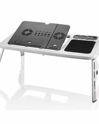 Mesa Base Dobrável Usb Para Notebook Com Cooler Mtn888 – Tomate