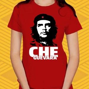 Camiseta Vermelha Che Baby Look