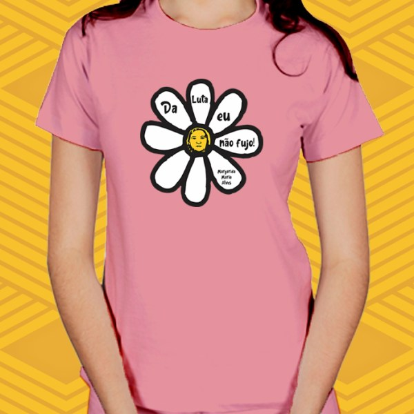 Camiseta Flor de Luta Baby Look