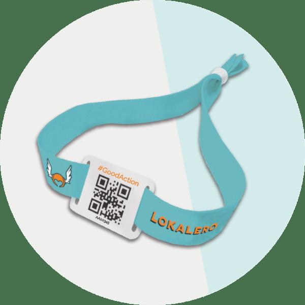 Bracelets QR Code en tissu recyclé LOKALERO