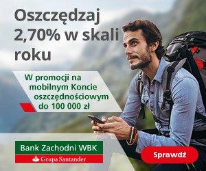 Mobilne Konto Oszczędnościowe Bank Zachodni WBK