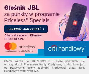 Citi Handlowy Karta kredytowa + JBL FLIP 3