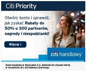 Citi Handlowy Konto Citi Priority z premią 150 zł
