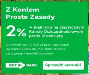Getin Bank Konto PROSTE ZASADY + 3,5%