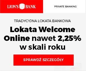 Lokata WELCOME Online