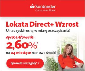 Santander Lokata Direct+ Wzrost 24M 2,60%