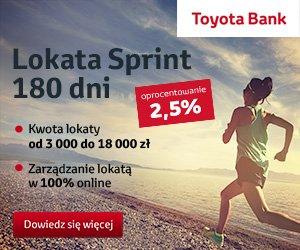 Toyota Bank Lokata Sprint