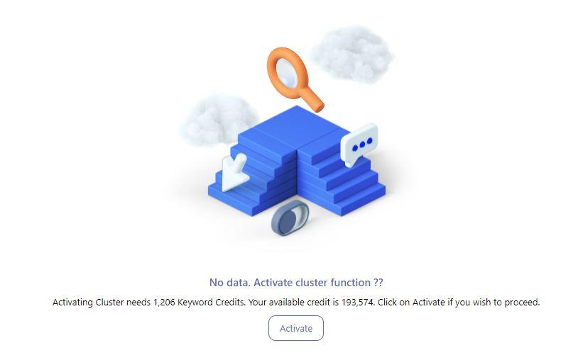 Keyword Clusters in Writerzen