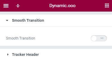 Dynamic.ooo Smooth Transition & Tracker Header