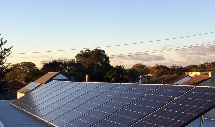 Solar panels on a residential property as installed by Lokic Energy Solutions.
