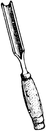 Gravure d'une gouge à graver