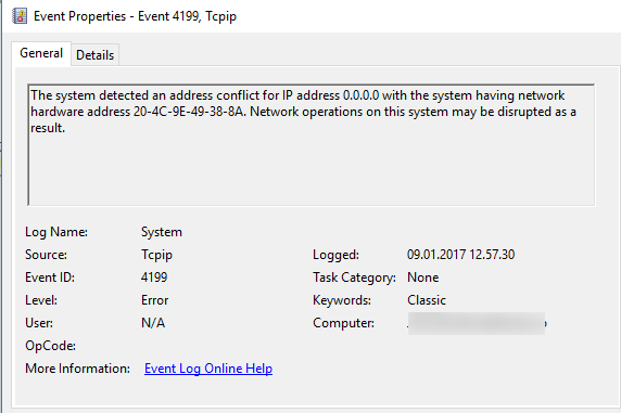 IP Address conflict on 0 0 0 0 - BlackCat Reasearch Facility