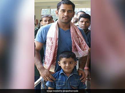 राजस्थान रॉयल्स ने ट्विटर पर एमएस धोनी के साथ रियान पराग का लंबा इतिहास साझा किया।  तस्वीर देखें |  क्रिकेट खबर