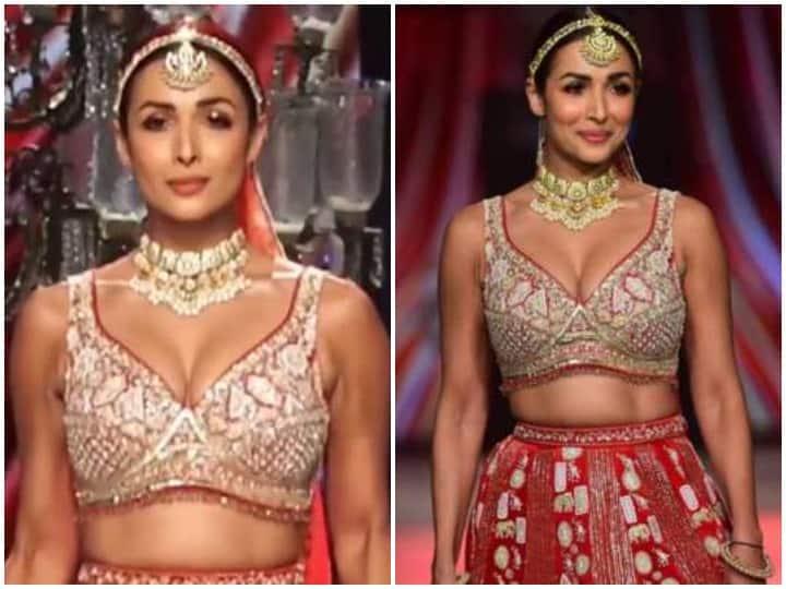 लाल लहंगा पहनकर दुल्हन बनवाएंगे मालीका अरोड़ा ने सुंदर सुंदर वीडियो, अदाएं देख दे बैठक दिल