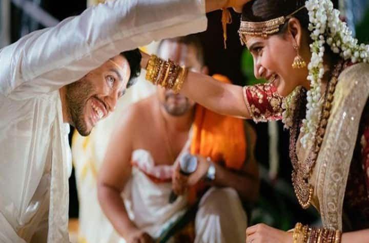 सामंथा प्रभू और नागा चैतन्या की असाधारण अलौकिक शक्ति, सामंथा ने कपड़े पहने की साडी