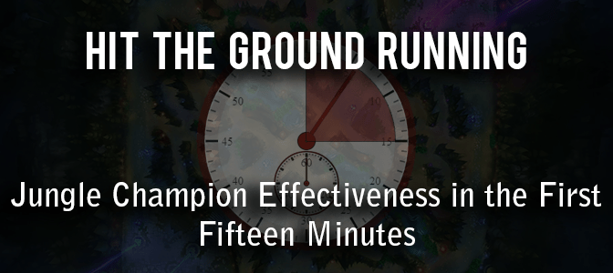 Hit the Ground Running: Jungle Champion Effectiveness in the First Fifteen Minutes