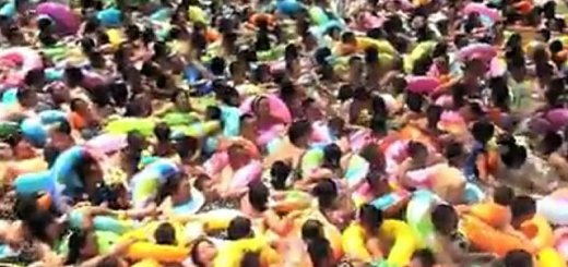 Um dia numa de piscina de ondas na China