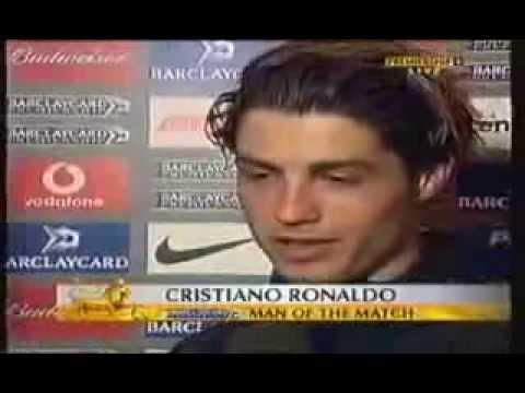 A primeira flash interview do Cristiano Ronaldo em inglês